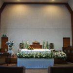 教会でのお葬儀(2015年3月28日)