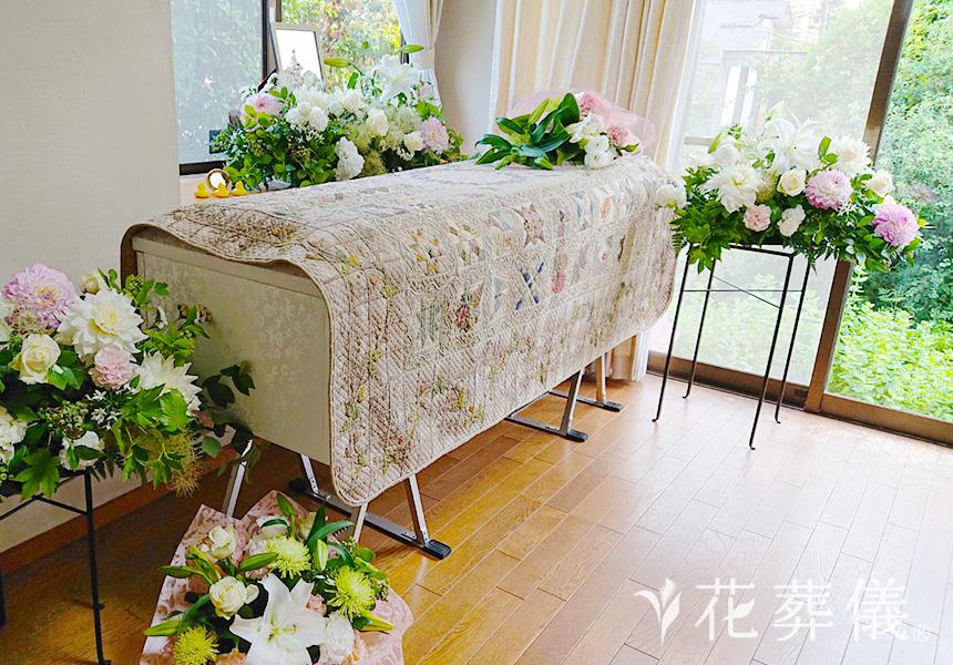 自宅葬での花祭壇について