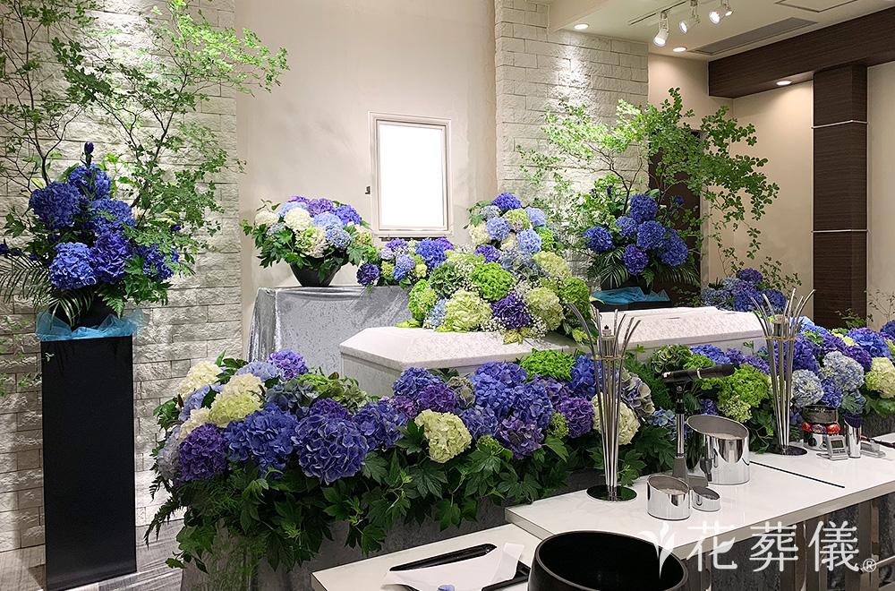 紫陽花(あじさい)の祭壇